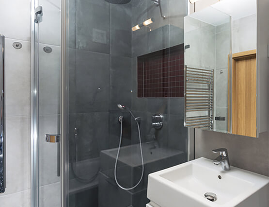 Kleine Wohnung ganz Groß Dusche
