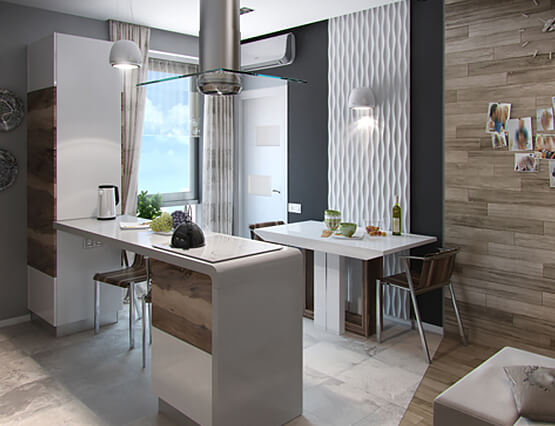 Kleine Wohnung ganz Groß Küche