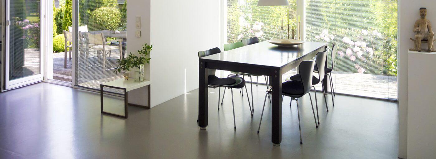 Sichtestrich beton grau glänzend Natur