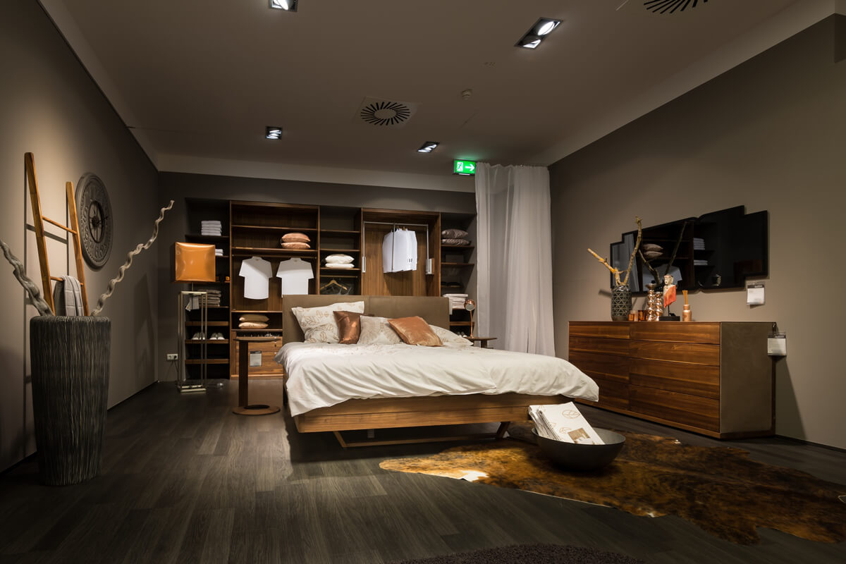 Schlafzimmer Team14 Float Bett Massivholz Nussbaum mit ...