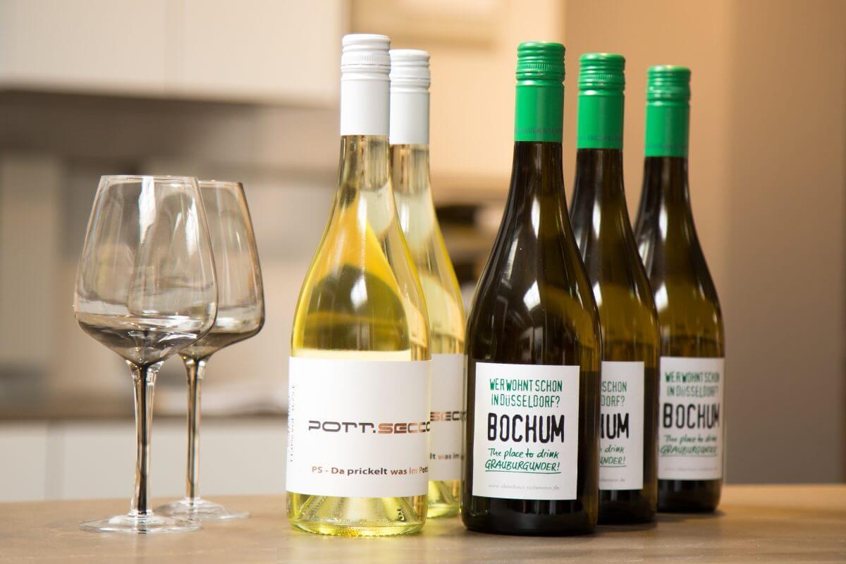 Rodemann Weinflaschen PottSecco und Bauer Wein