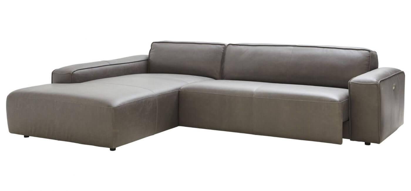 Erstaunlich Sofa Mit Sitztiefenverstellung Referenz Von Lederecke In Dunkelgrau Natura Denver - Möbel