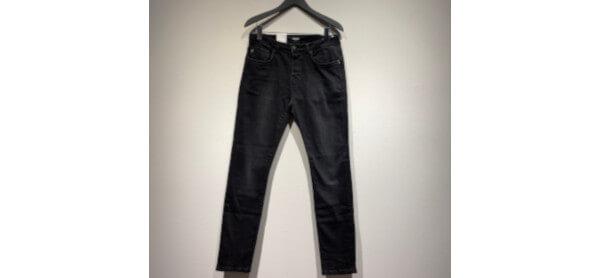 Dunkle Jeans Goldgarn Denim