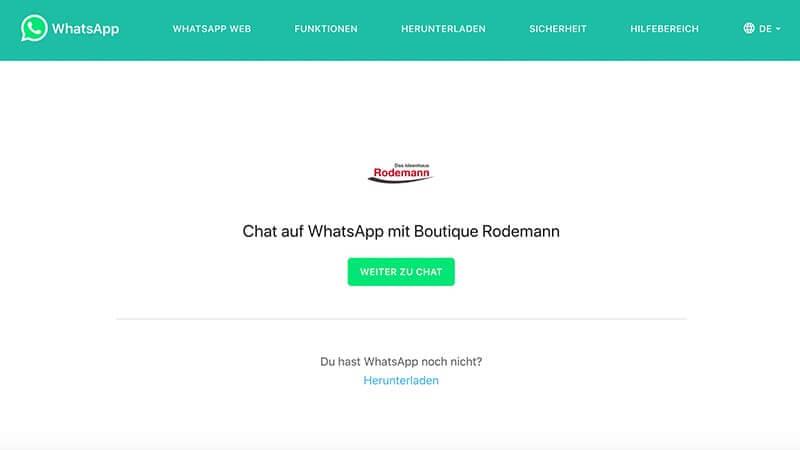 WhatsApp Chat mit Rodemann